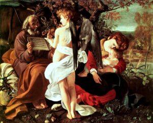 """""""Il riposo durante la fuga in Egitto"""" - Caravaggio"""